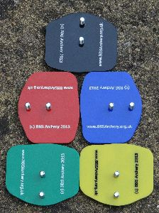 Image of the different colour adapters fitted to BBS-AS Modified Tripods.